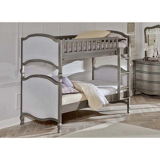 NE Kids Kensington Victoria Antique Silver Twin over Twin Bunk Bed