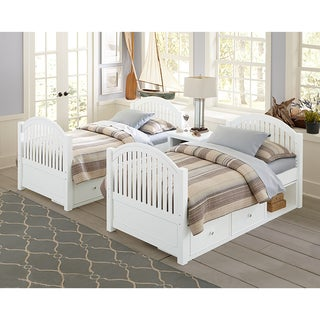 Lake House Adrian White Twin Bed with Storage