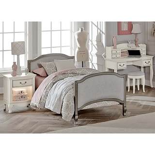Kensington Victoria Antique Silver Upholstered Twin-size Bed