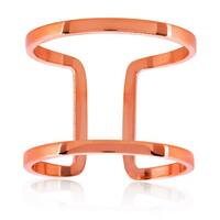 ELYA Rose Gold Geometric Stainless Steel Open Ring
