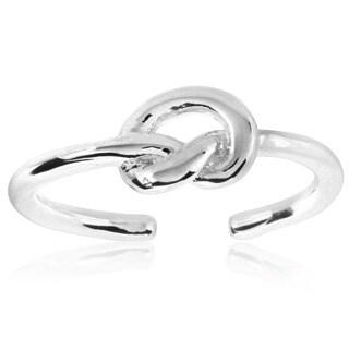 ELYA High Polish Love Knot Stainless Steel Open Ring