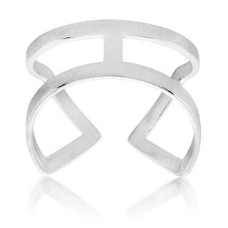ELYA High Polish Geometric Stainless Steel Open Ring (4 options available)