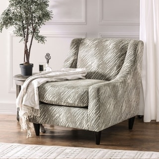 Furniture of America Amelie Contemporary Abstract Grey Club Chair