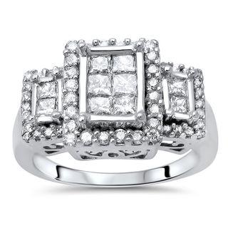Noori 14k Gold 7/8ct TDW Princess-cut Diamond Ring