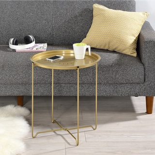 Round Fold Down Accent Table