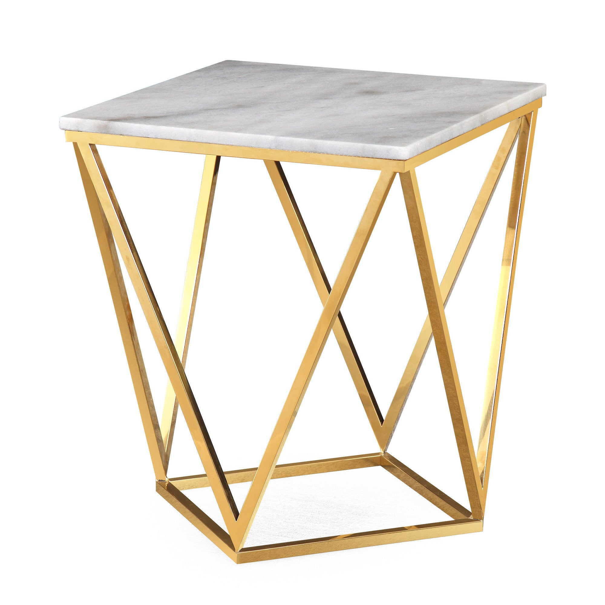 Ordinaire Leopold White Marble Side Table