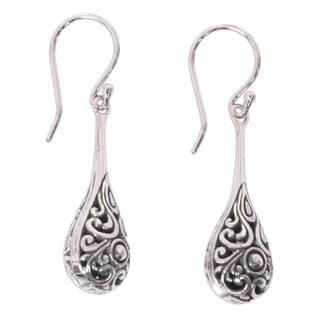 Handmade Sterling Silver 'Maraca' Earrings (Indonesia)