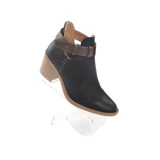 "Hadari Women's Tobin 2.5"" Heel Pointy Black Ankle Strap Boots"