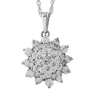 Women's 1.27-carat Total Weight Diamond Pendant in 14K White Gold