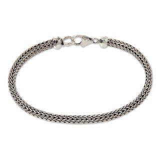 Handmade Sterling Silver 'Naga Champion' Bracelet (Indonesia)