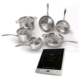 BergHoff EarthChef Professional Cookware Set With Silvertone induction Stove