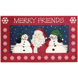 Nourison Accent Décor Merry Friends Red Accent Rug (1'6 x 2'6)