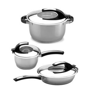 BergHoff Virgo 6-piece 18/10 Stainless Steel Cookware Set
