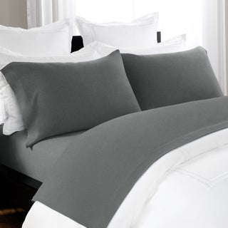 Unique Heathered Jersey Extra Soft Yarn Dyed Cotton Bed Sheet Set by Briarwood Home (More options available)