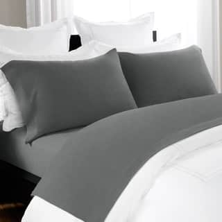Unique Heathered Jersey Extra Soft Yarn Dyed Cotton Bed Sheet Set By Briarwood Home