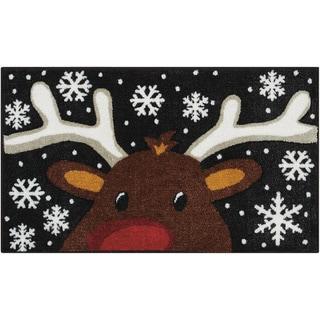 Nourison Accent Décor Reindeer Black Accent Rug (1'6 x 2'6)