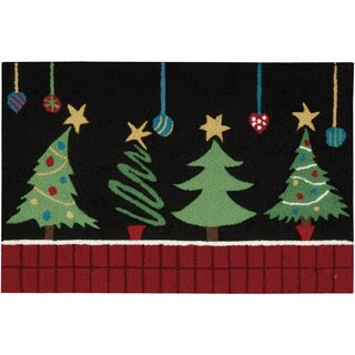 Nourison Everywhere Christmas Tree Black Accent Rug (1'8 x 2'6)