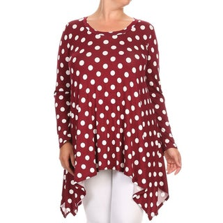 Women's Plus-size Polka-dot Tunic