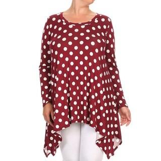 Women's Plus-size Polka-dot Tunic