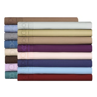 Embroidered Fine-woven Deep Pocket Microfiber 4-piece Sheet Set