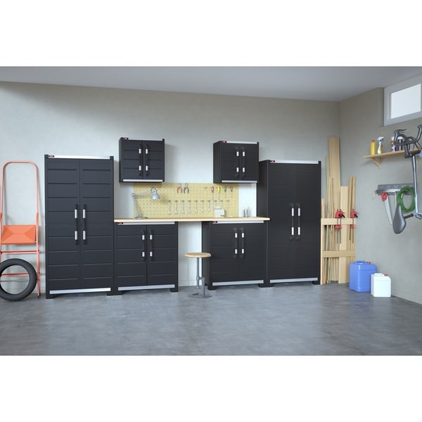 Tips For Buying Garage Utility Cabinets: Shop XL Pro Garage System Utility Black Storage Cabinets (Set Of 6)