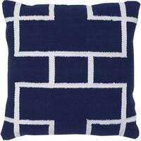 Navy Blue Decorative Throw Pillow