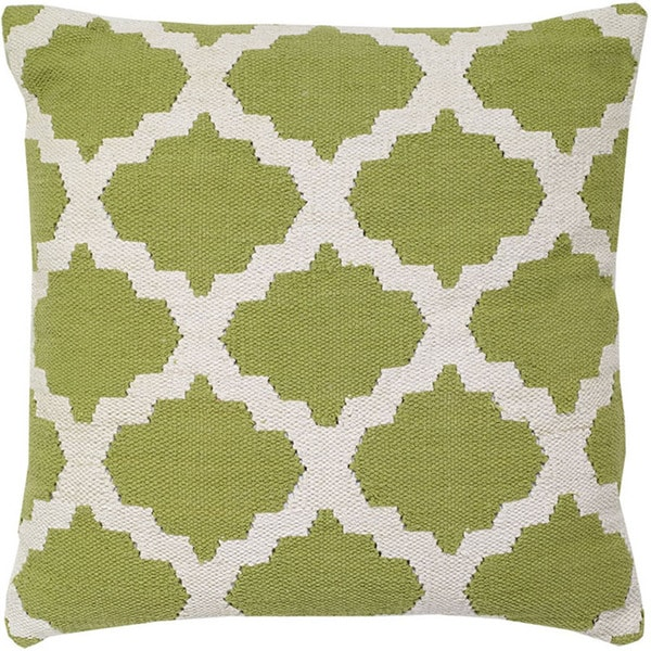 Kiwi Decorative Woven Cotton Throw Pillow