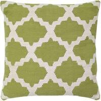 Kiwi Decorative Woven Cotton Throw Pillow