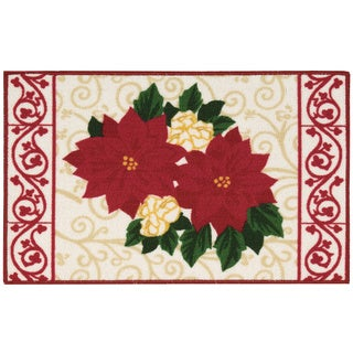 Nourison Essential Elements Poinsettia Red Accent Rug (1'5 x 2'4)