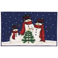 Nourison Essential Elements Three Snowmen Multicolor Accent Rug (1'5 x 2'4) - multi - 1'5 x 2'4