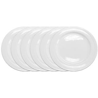 BergHOFF Elan White Porecelain 6-piece 7-inch Wide-rim Bread Plate Set