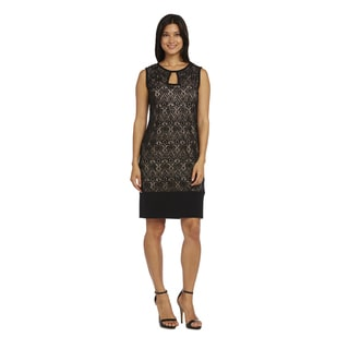 R&M Richards Lace Sleeveless Cocktail Dress