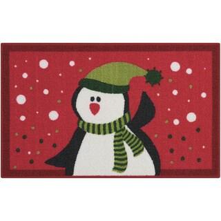 Nourison Essential Elements Penguin Red Accent Rug (1'5 x 2'4)