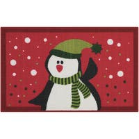"Nourison Essential Elements Penguin Red Accent Rug (1'5 x 2'4) - 1'6"" x 2'3"""