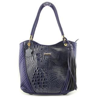 Madi Claire Women's 'Devon' Blue Crocodile/Alligator Handbag