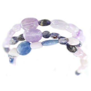 One-of-a-kind Michael Valitutti Kunzite, Kyanite and Amethyst Multi-Strand Bracelet
