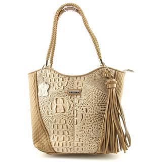 Madi Claire Women's 'Devon' Crocodile/Alligator Handbag