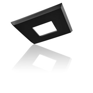 EzClipse Black Plastic/Rubber/Metal 5-inch Square Low-profile Magnetic Shade