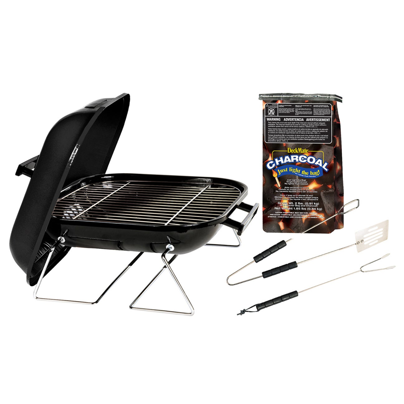 Kay Home 30103 14-inch Tabletop Charcoal Grill With Charc...