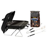 Kay Home 30103 14-inch Tabletop Charcoal Grill With Charcoal and Tool Set