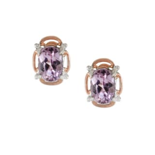 One-of-a-kind Michael Valitutti Kunzite Butterfly Studs