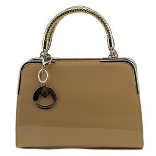 MG Collection Women's 'Matana Trendy Satchel' Patent Leather Handbag