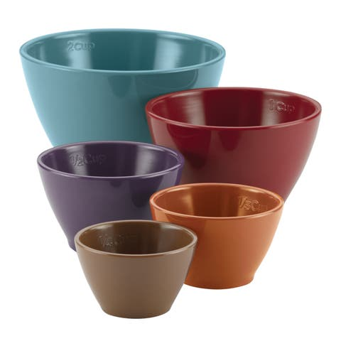 Rachael Ray(r) Cucina Melamine Nesting Measuring Cups, 5-Piece Set, Assorted