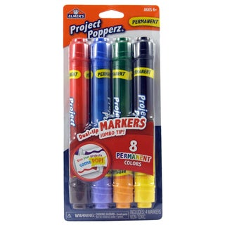 Elmer's E3064 Assorted Colors Dual-Tip Project Popperz™ Markers 4 Count