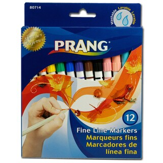 Prang 80714 Colors Fine Point Washable Markers 12 Assorted