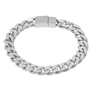 Steeltime Men's Stainless Steel Cuban Chain Bracelet in 2 Colors