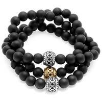 Men's Black Lava Beaded Bracelet