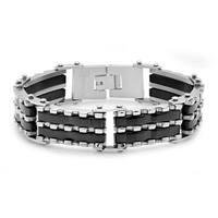 Steeltime Men's Two-Tone Link Bracelet