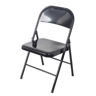 Black All-metal Heavy-duty Chair