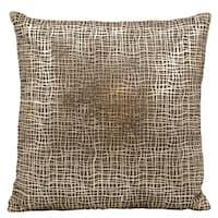 Mina Victory Natural Hide Sitara Laser Cut Gold/ BeigeThrow Pillow by Nourison (18-Inch X 18-Inch)